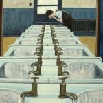 'Eau-vive', huile sur toile, 100 cm x 73 cm, 2010, collection particulière