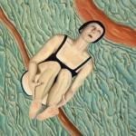 'Le saut', huile sur toile, 80 cm x 80 cm, 2010