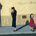 'Défense d'afficher', huile sur toile, 100 cm x 73 cm, 2009, collection particulière