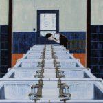 'Eau Vive', huile sur toile, 165 cm x 130 cm, 2013, collection particulière