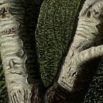 'La Séparation', huile sur toile, 55 cm x 46 cm, 2014, collection particulière