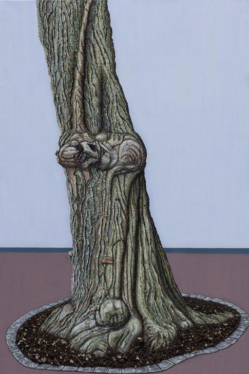 'L' arbre', huile sur toile, 130 cm x 195 cm, 2014
