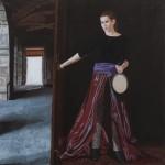 'La Justice', huile sur toile, 120 cm x 120 cm, 2010, collection particulière