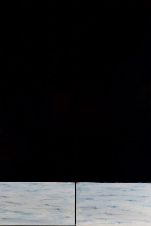'Triptyque fermé', huile sur panneaux de bois, 80 cm x 120 cm, 2015