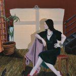 'L'Atelier', huile sur toile, terre, 130 cm x 162 cm, 2015