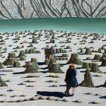'Un matin dans la vie (2)', huile sur toile, 120 cm x 60 cm, 2016