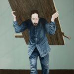 'La Porte', huile sur toile, terre, 97 cm x 146 cm, 2017