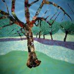 Le Printemps, huile sur papier et huile sur papier sulfurisé, le tout marouflé sur toile vinyl, 210 x 245 cm, 2020